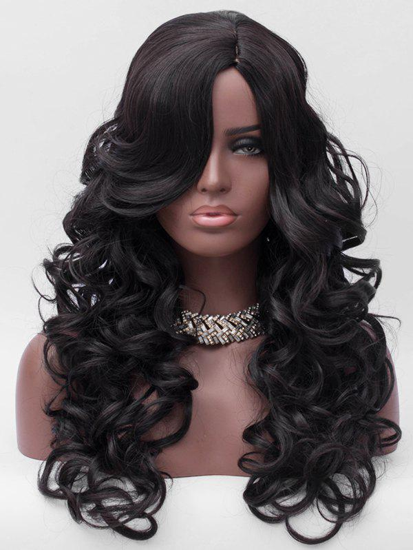 Fashion Side Parting Long Body Wave Party Synthetic Wig
