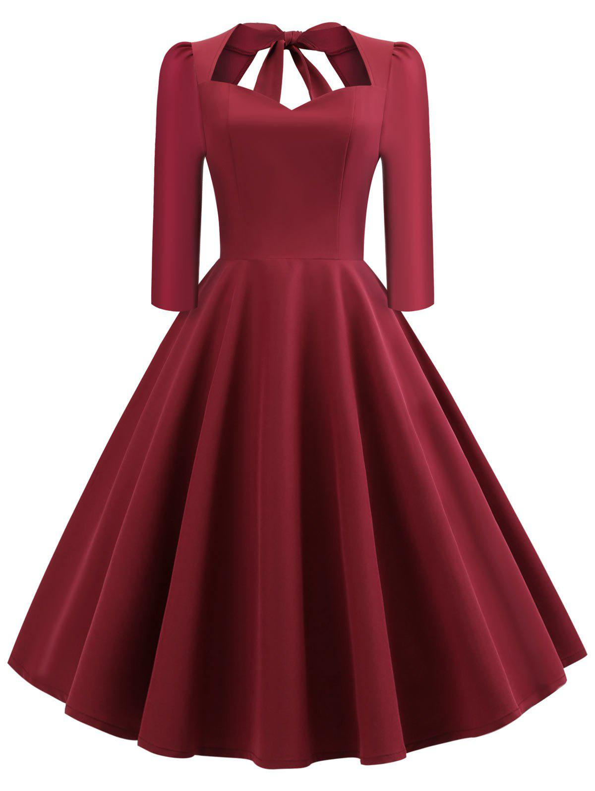 Shop Vintage Bow Tie Swing Dress