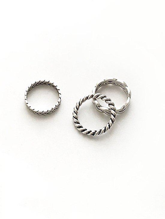 Outfits Simple Alloy Hollow Out Rings Set