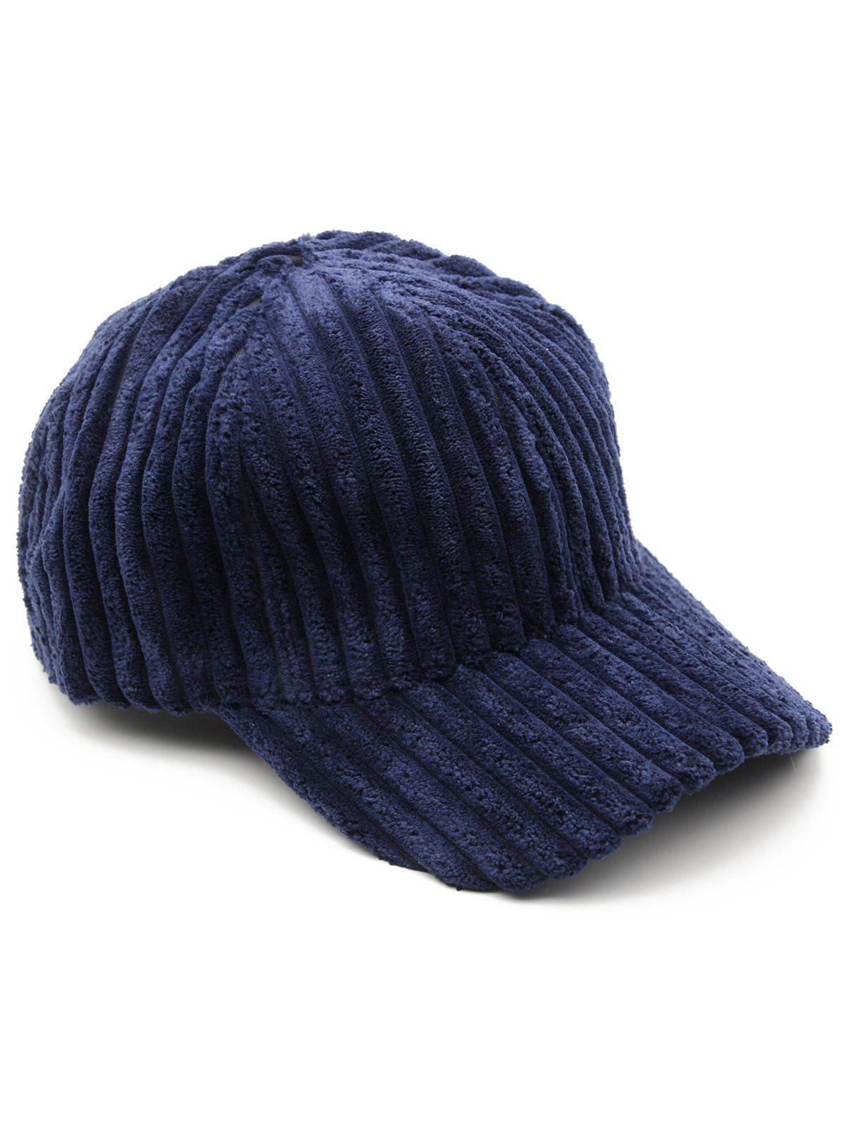 Cheap Thick Striped Adjustable Baseball Cap