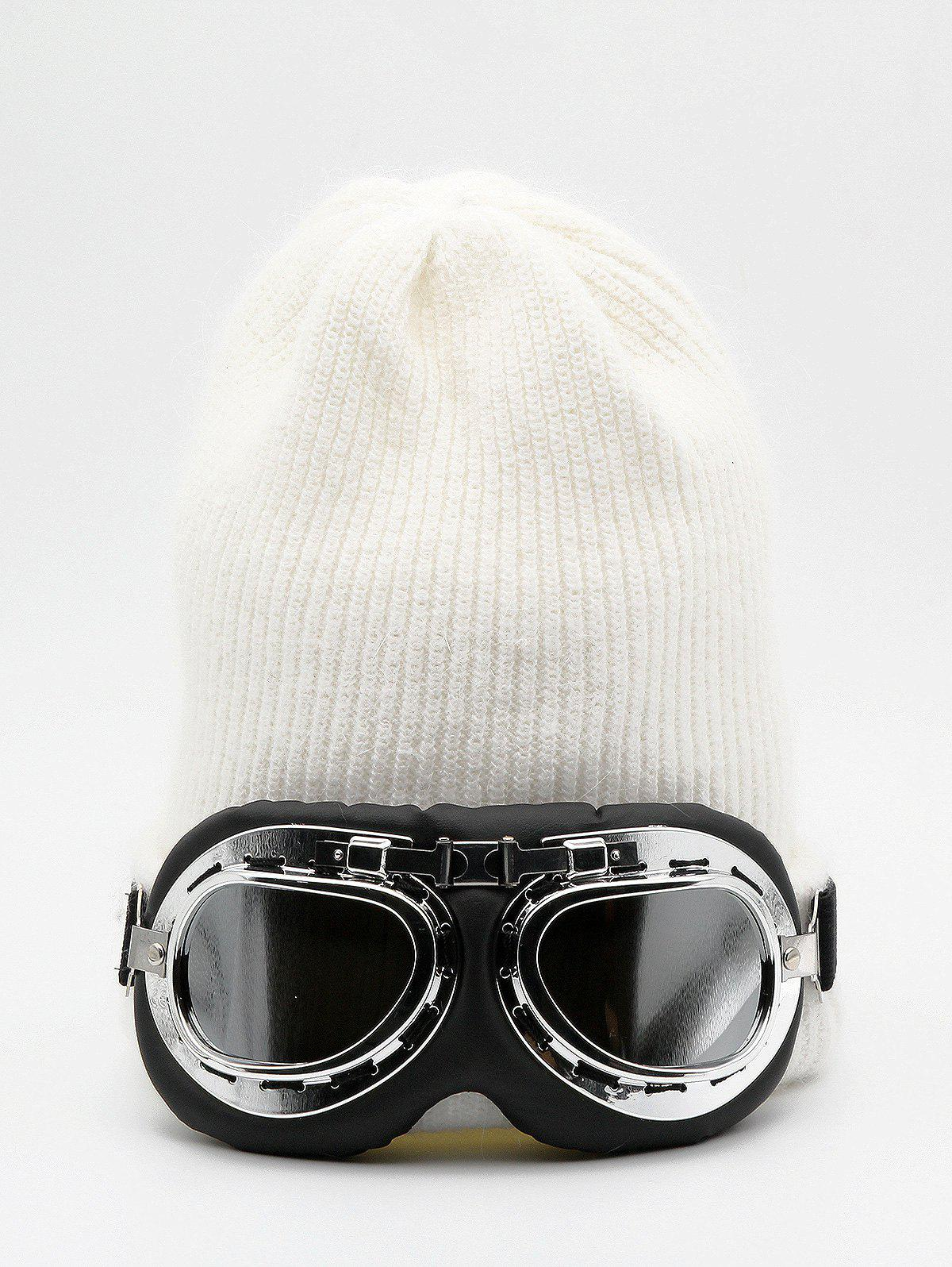 Outfit Novelty Eye Mask Knitted Beanie