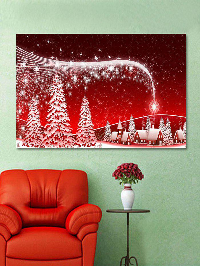 Chic Christmas Night Trees Print Wall Art Sticker