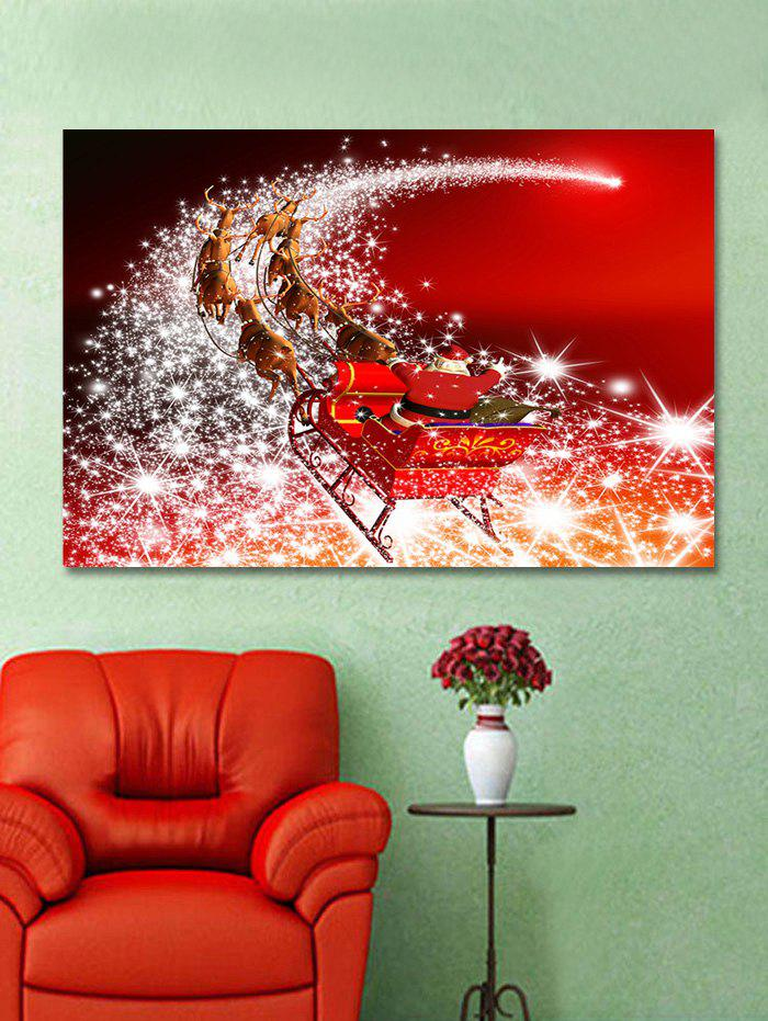 Fancy Christmas Santa Sleigh Print Wall Art Sticker