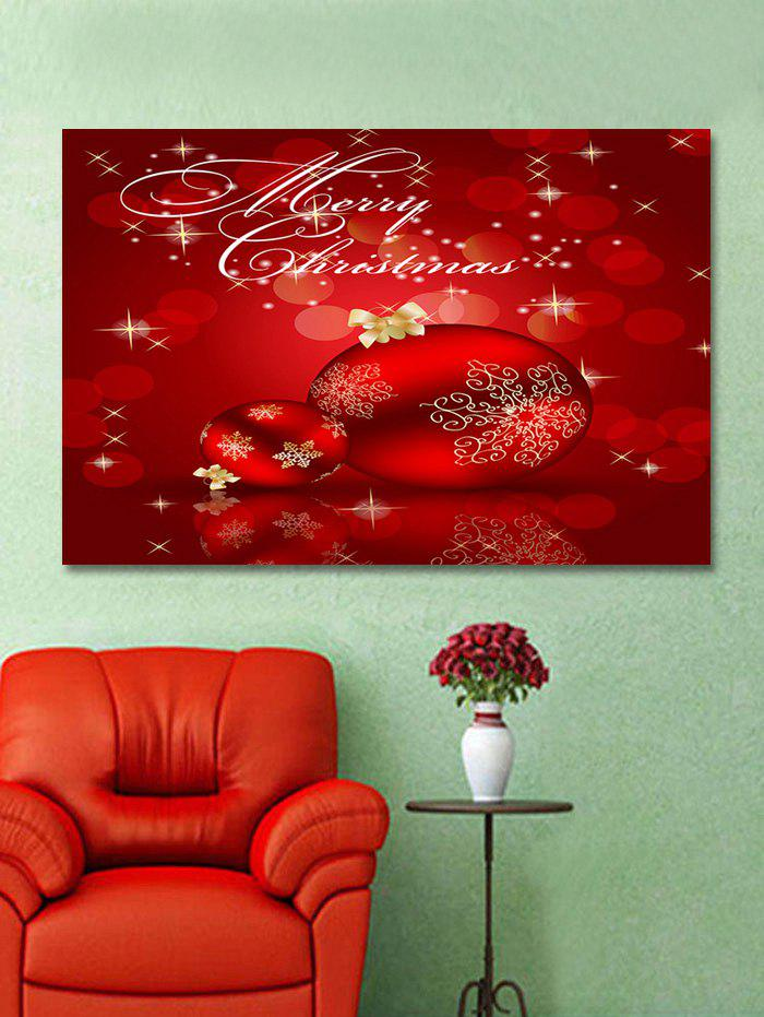 Outfits Christmas Balls Print Wall Art Sticker