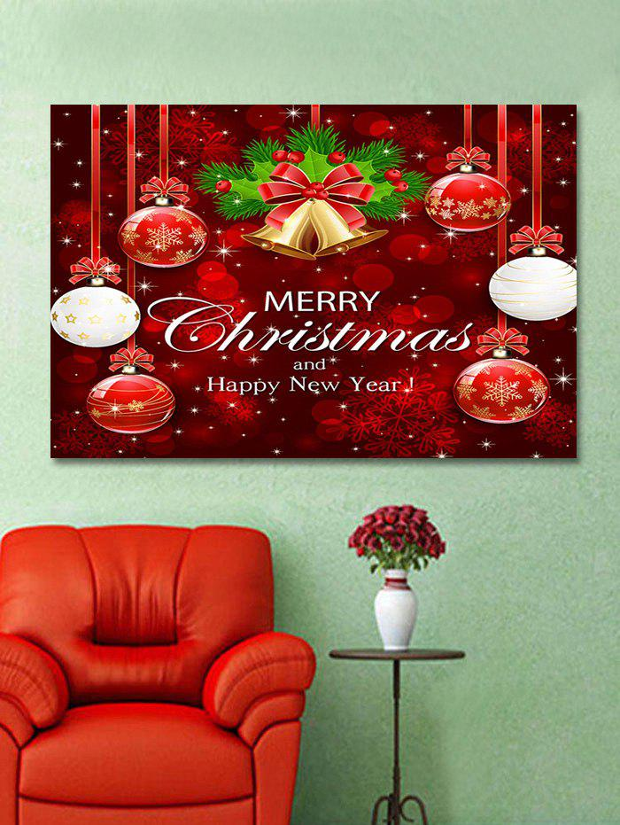 Latest Christmas Balls Bells Print Wall Art Sticker