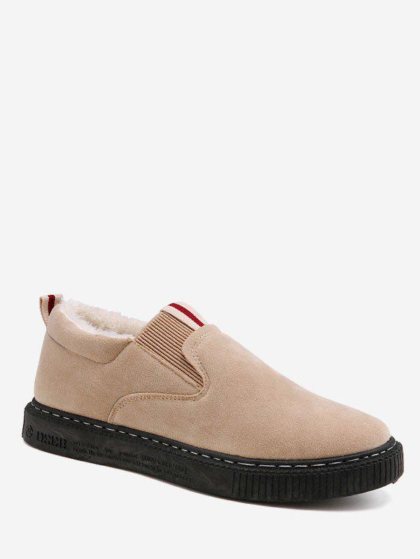 Buy Contrast Suede Loafer Shoes