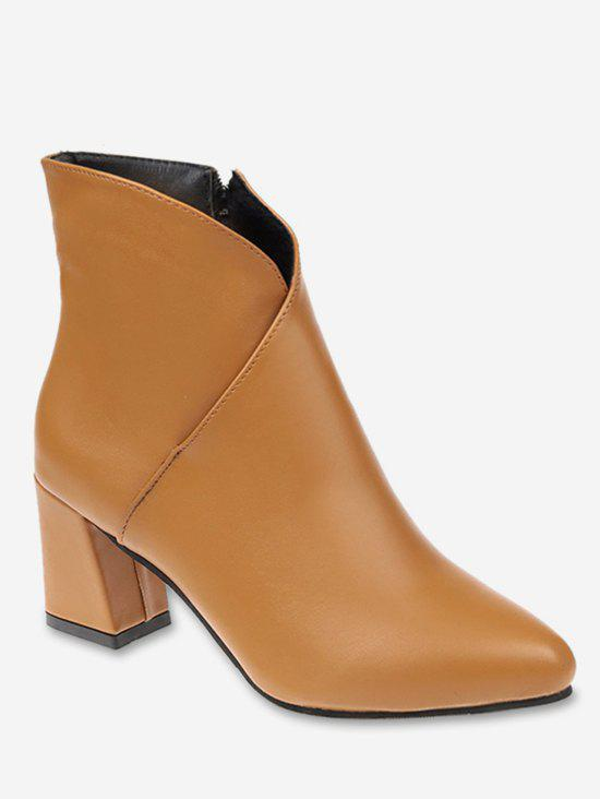 Buy V Cut Pointed Toe Ankle Boots