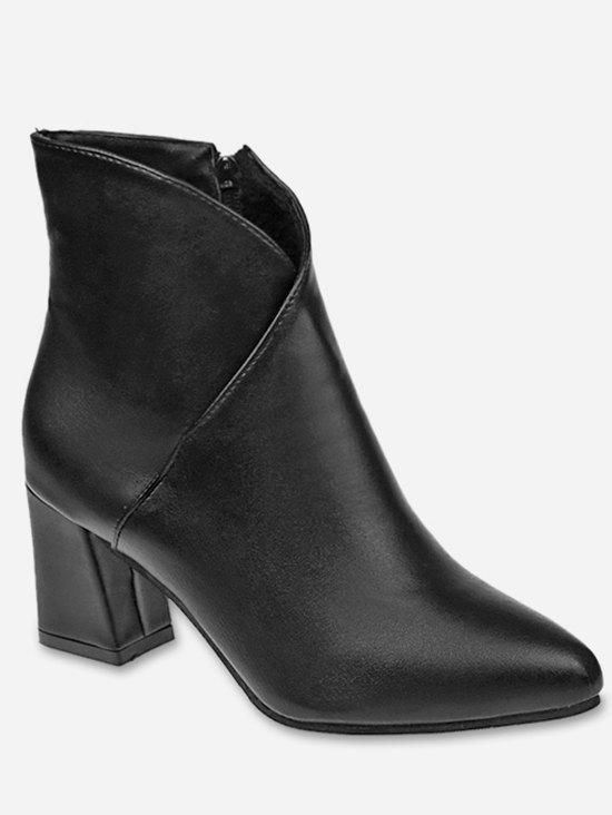 Cheap V Cut Pointed Toe Ankle Boots