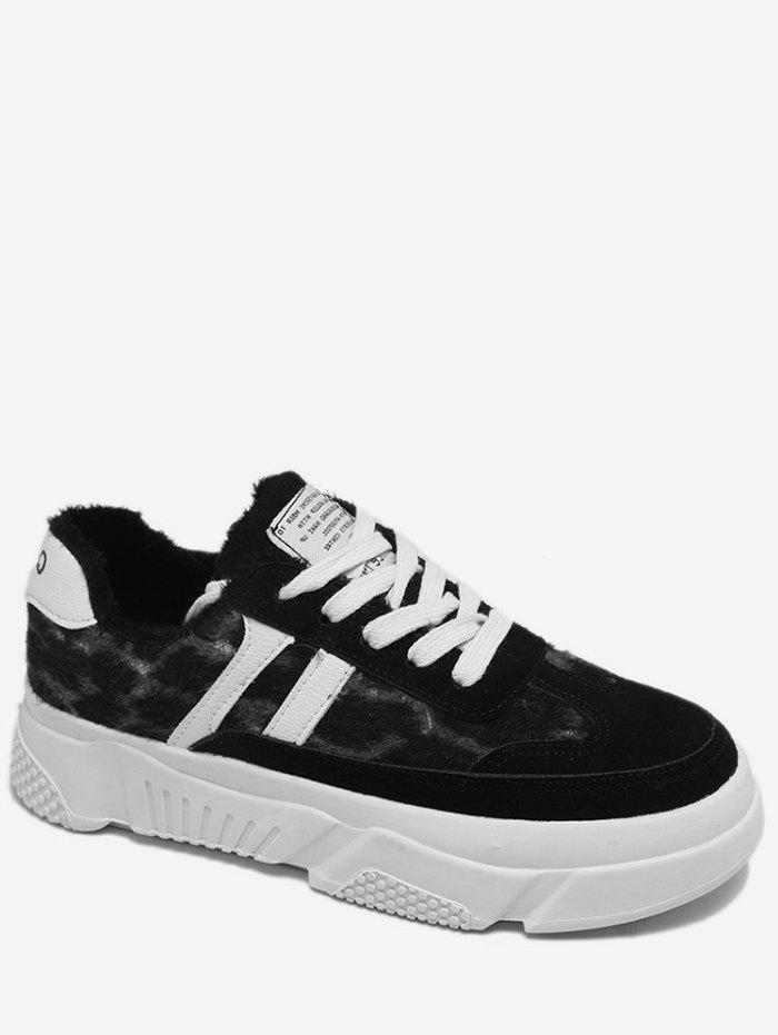 New Side Stripe Leopard Skate Sneakers