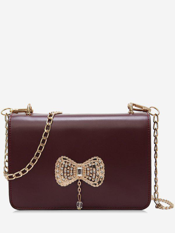 Discount Rhinestoned Bowknot Pattern Crossbody Bag