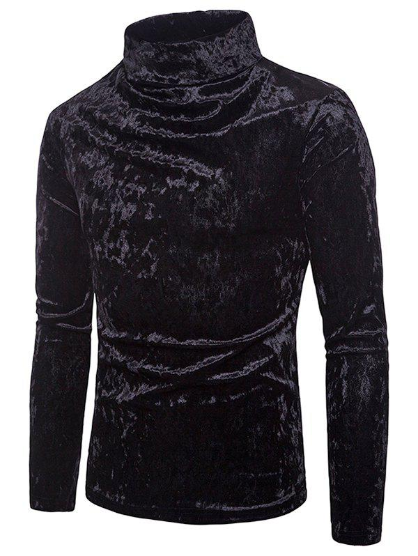 Outfit Metallic Velour Long Sleeves Shirt