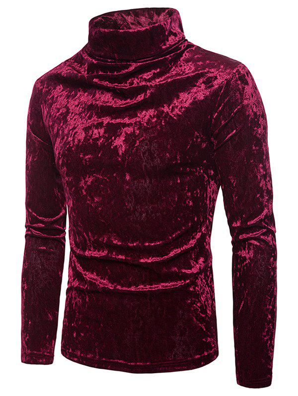 Store Metallic Velour Long Sleeves Shirt