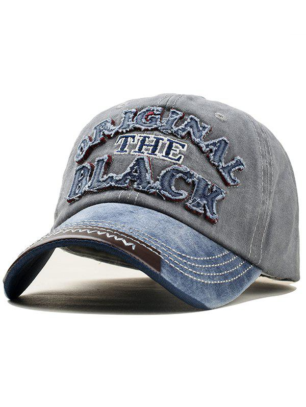 Store Letter Embroidery Washed Dyed Baseball Cap
