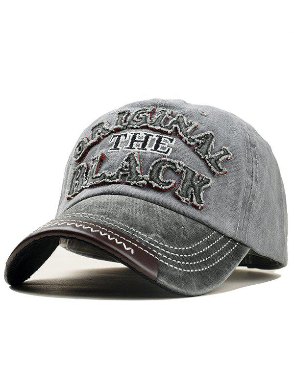 New Letter Embroidery Washed Dyed Baseball Cap