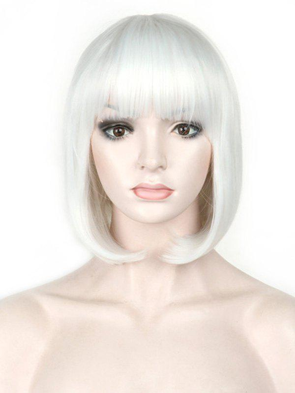 Outfits Short Full Bang Colorful Straight Bob Party Synthetic Wig