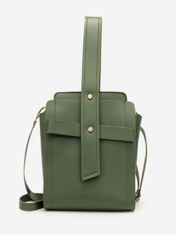 Chic Vertical Shape Rivet Crossbody Bag