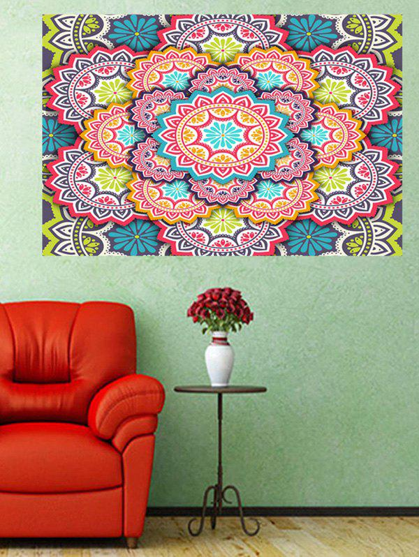 Latest Mandala Flower Print Wall Art Sticker