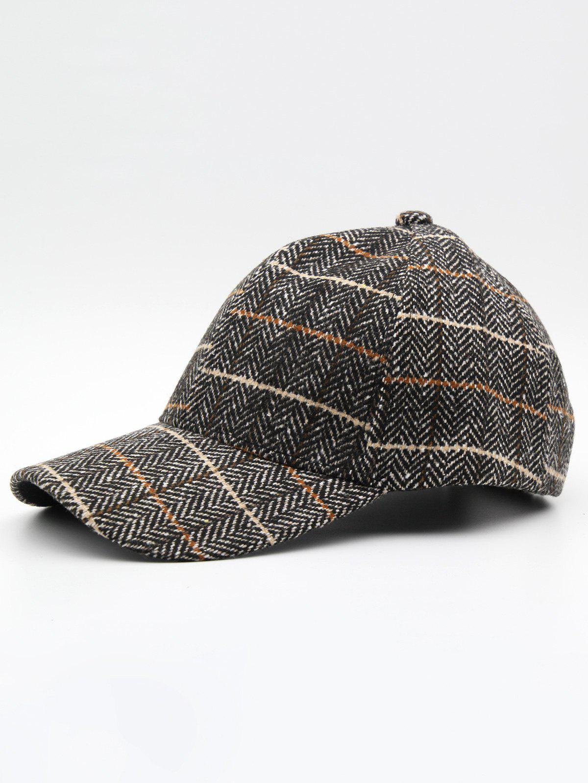 Chic Stylish Plaid Adjustable Duckbill Cap