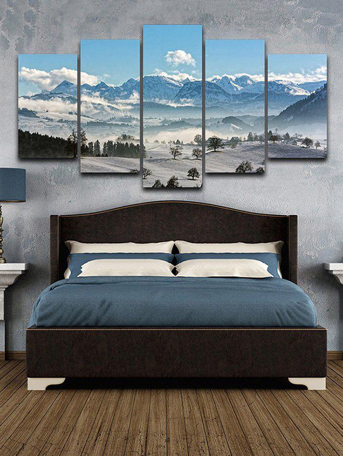 Affordable Snow Mountain Print Split Unframed Canvas Paintings