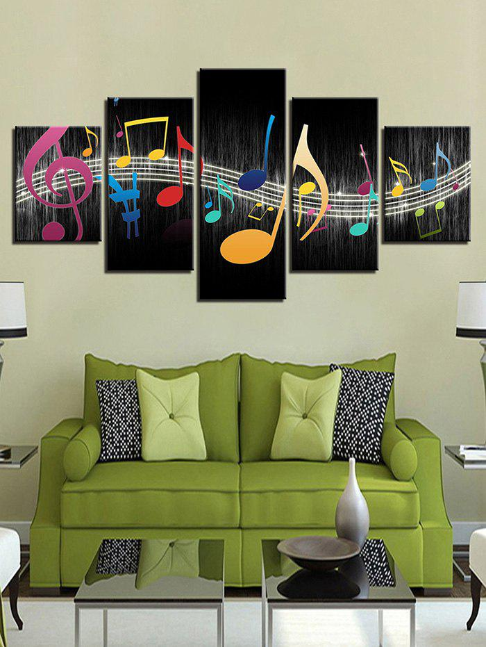 Discount Music Note Print Split Unframed Canvas Paintings