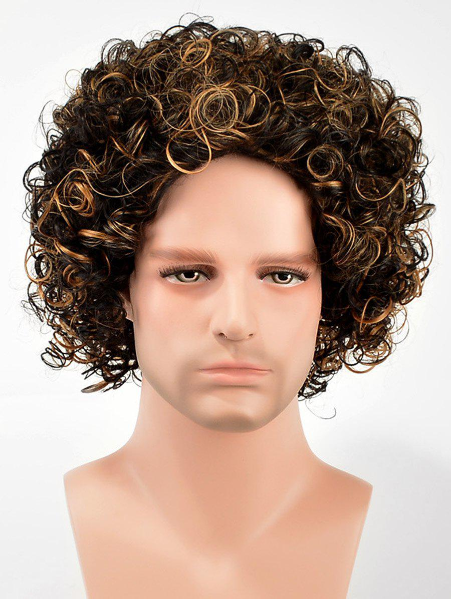 Latest Short Colormix Curly Synthetic Wig