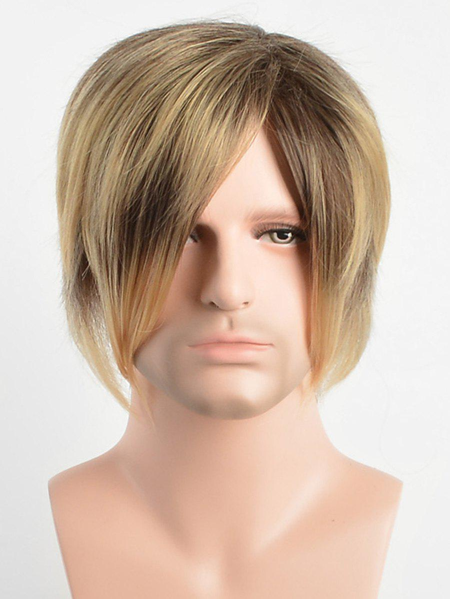 Store Short Capless Side Bang Layer Straight Synthetic Wig