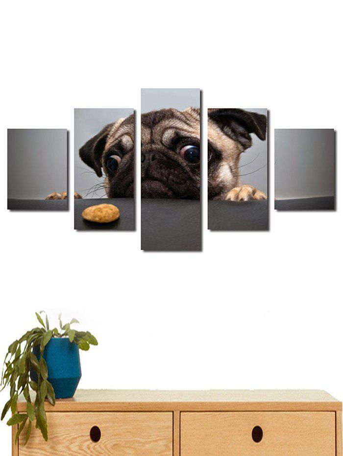 Discount Dog Print Split Unframed Canvas Paintings