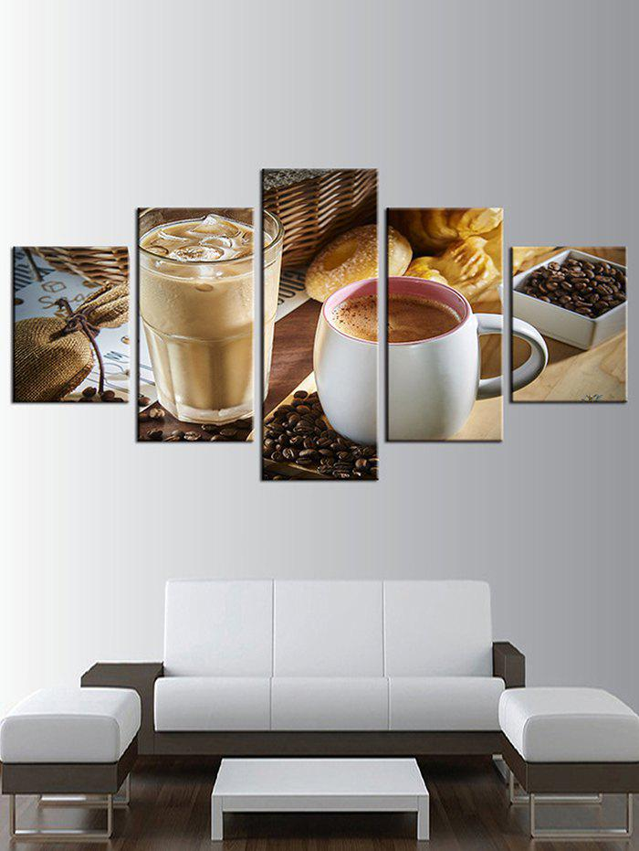Shops Coffee Print Split Unframed Canvas Paintings