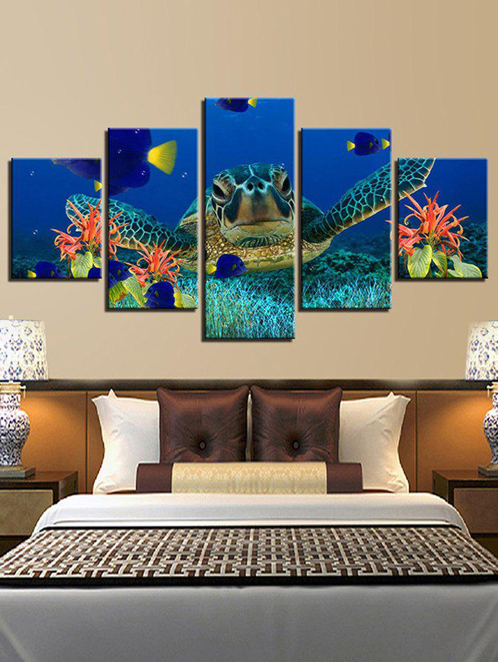 Online Sea Turtle Print Split Unframed Canvas Paintings