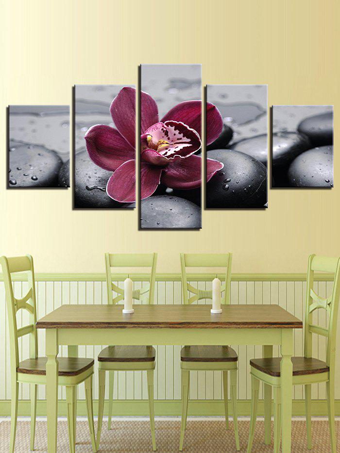 Discount Floral Print Split Unframed Canvas Paintings