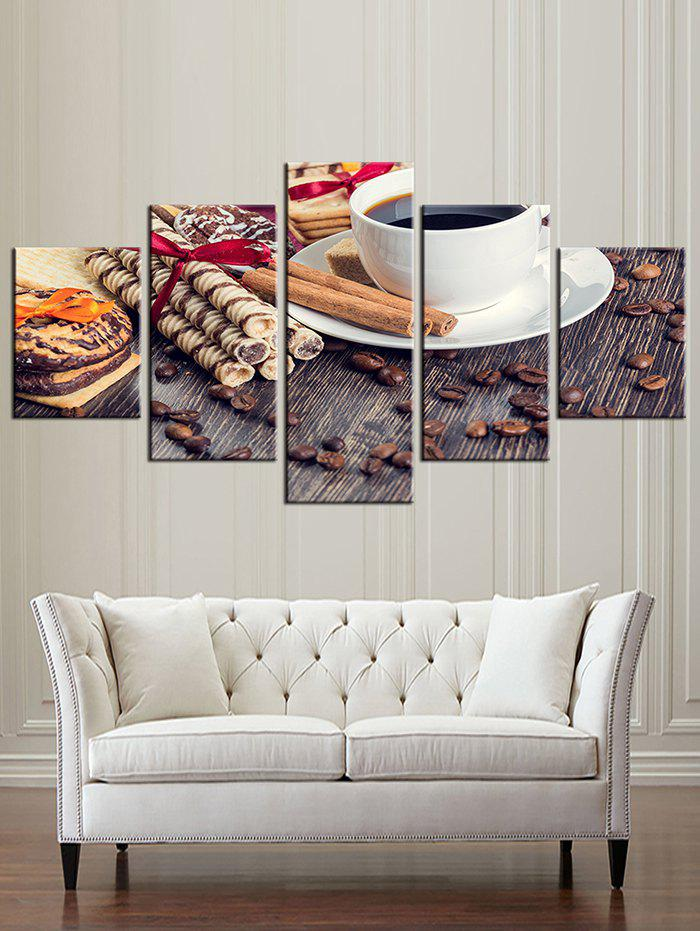 Outfit Food Print Split Unframed Canvas Paintings