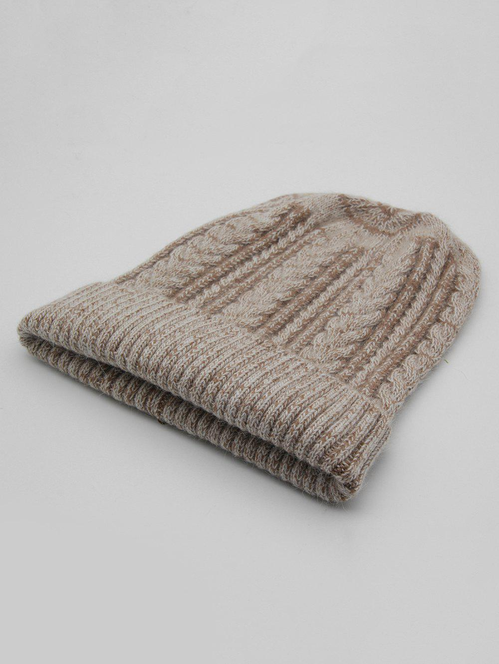 Hot Vintage Flanging Knitted Warm Beanie