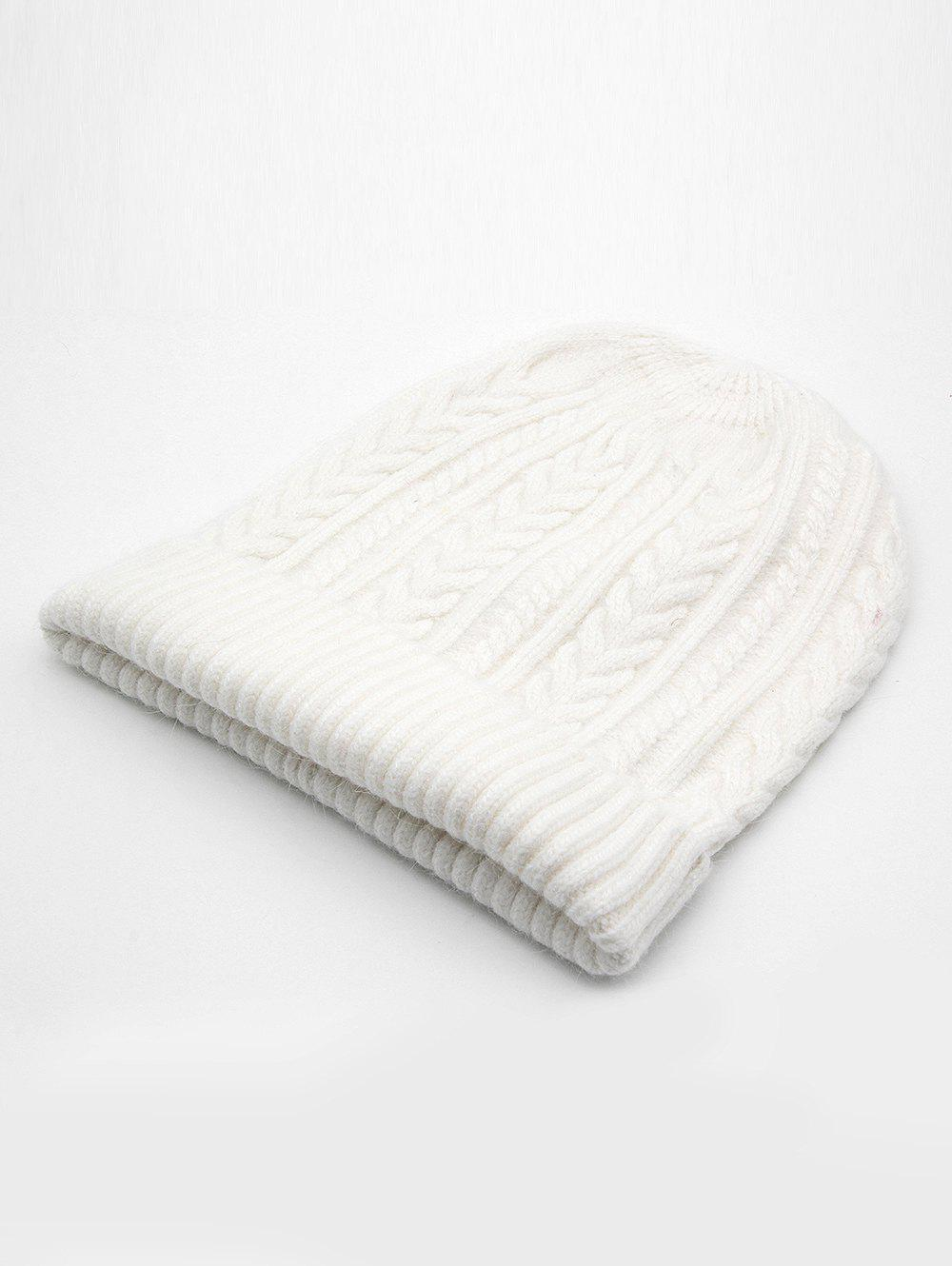 New Vintage Flanging Knitted Warm Beanie