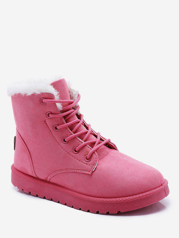 Latest Lace Up Suede Ankle Snow Boots