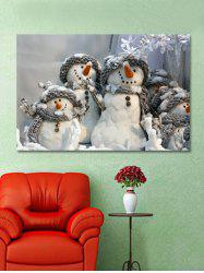 Christmas Snowman Family Print Removable Wall Sticker -