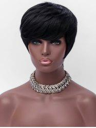 Short Side Bang Layer Straight Capless Synthetic Wig -