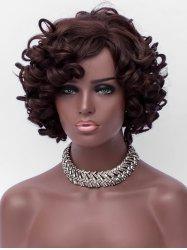 Short Side Bang Fluffy Loose Wave Party Synthetic Wig -