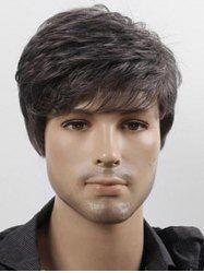 Short Side Bang Straight Capless Synthetic Wig for Men -