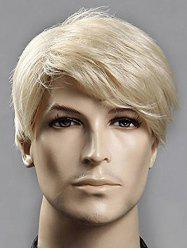 Short Side Bang Straight Synthetic Men Wig -