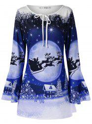 Plus Size Christmas Print T-shirt -