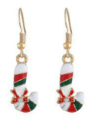 Christmas Candy Bar Rhinestone Earrings -