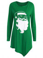Plus Size Christmas Santa Claus T-shirt -