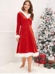 Christmas Mother and Daughter Velvet Dress -