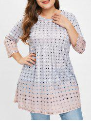 Plus Size Tunic Top with Polka Dot -