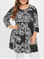 Plus Size Floral Tunic Top -