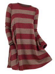 Striped Round Neck Sweater -
