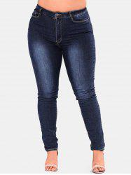Plus Size High Rise Skinny Jeans -