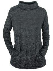 Space Dye Turtle Neck Top -