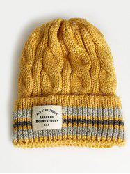 Letter Label Flanging Thick Beanie -