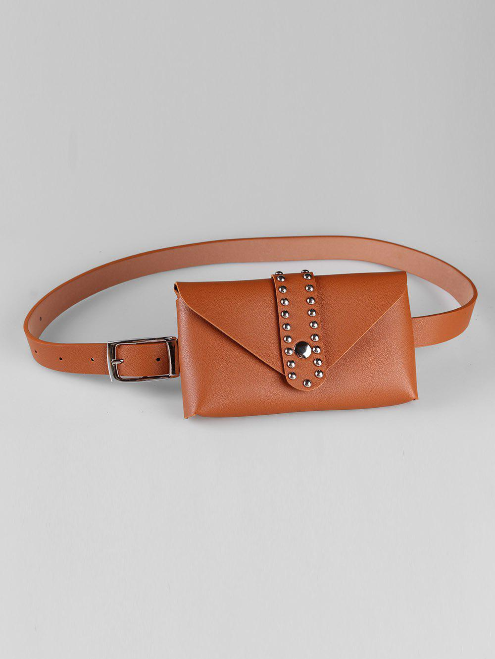 Buy Stylish Removable Fanny Pack Faux Leather Belt Bag